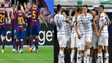 """صورة بعد تسجيل إصابات بـ""""كورونا"""".. التأجيل يهدد مباراة برشلونة ودينامو كييف في أبطال أوروبا"""
