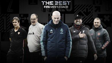 صورة زيدان فليك وكلوب أبرز المرشحين لجائزة أفضل مدرب في عام 2020