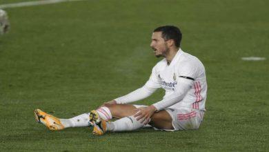 صورة بعد إصابته مجددا.. تحديد مدة غياب هازارد عن ريال مدريد
