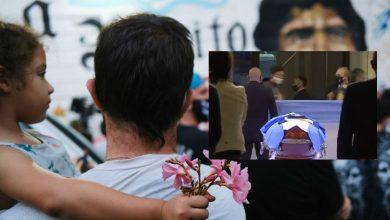 """صورة إنطلاق جنازة الأسطورة """"مارادونا"""" في القصر الرئاسي- فيديو"""