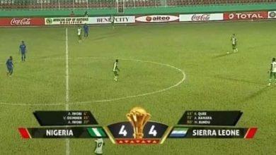 صورة تصفيات كأس إفريقيا.. سيراليون يقلب تأخره بالأربعة إلى تعادل مع نيجيريا -فيديو