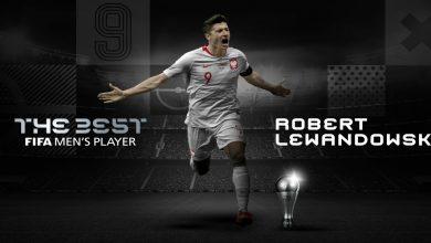 صورة روبيرت ليفاندوفسكي أفضل لاعب في العالم لسنة 2020
