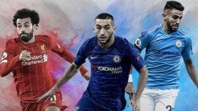 صورة من ضمنهم مغربيان.. 4 لاعبين عرب ضمن قائمة الـ100 الأفضل في العالم سنة 2020