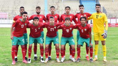 """صورة تشكيلة """"الأشبال"""" في مواجهة المنتخب التونسي"""