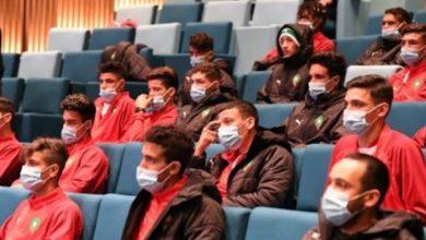 صورة لقجع يستقبل بعثة منتخب الشباب بعد العودة من تونس