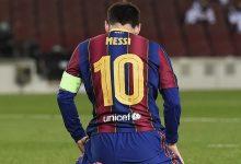 صورة البطاقة الحمراء تُشهر في وجه ميسي لأول مرة في مسيرته مع برشلونة