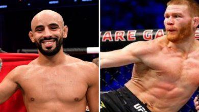 """صورة عثمان أبو زعيتر مواجها الأمريكي فريفولا في قمة عرض """"UFC257"""""""
