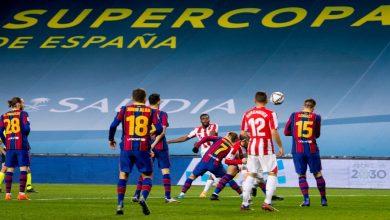 صورة في مباراة طُرد فيها ميسي.. بيلباو ينتصر على برشلونة ويتوج بطلا لكأس السوبر الإسباني- فيديو
