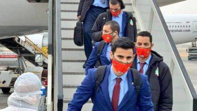 صورة منتخب كرة اليد يصل لمصر تأهبا للمشاركة في بطولة العالم