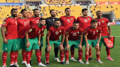 """صورة الملك يهنئ المنتخب المغربي بعد التتويج بـ""""الشان"""""""