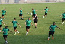 """صورة المنتخب الوطني المحلي يُجري آخر حصة تدريبية قبل مواجهة التوغو في """"شان"""" الكاميرون"""