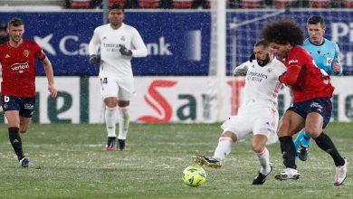"""صورة في طقس """"ثلجي"""".. ريال مدريد يتعادل مع أوساسونا دون أهداف- فيديو"""