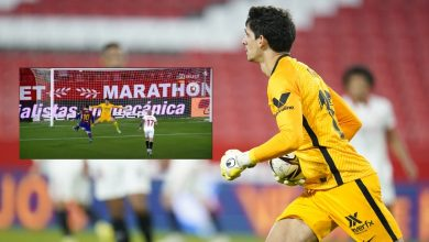 """صورة تألق النجم المغربي أمام برشلونة يُبهر المتابعين وصحيفة إسبانية تعلق بـ: """"بونو نفى ميسي"""""""