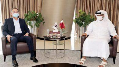 """صورة تزامنا مع الـ""""موندياليتو"""".. لقجع يجتمع برئيس الاتحاد القطري في الدوحة"""