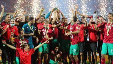 صورة شاهد لحظة تتويج المنتخب المغربي بلقب كأس إفريقيا للمحليين -فيديو