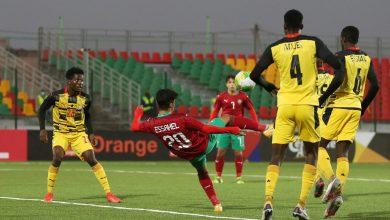 صورة ملخص مباراة المغرب وغانا في كأس إفريقيا للشباب