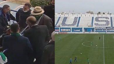 صورة تأخر انطلاق مباراة الرجاء والاتحاد المنستيري بسبب دخول الجماهير