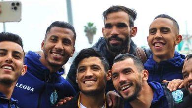 صورة بعثة الرجاء الرياضي تشد الرحال صوب تونس- صورة