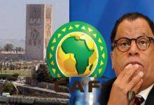 """صورة بعد رفض منح التأشيرات لكايزر تشيفز..رئيس الاتحاد الجنوب إفريقي يؤكد حضور وفده لانتخابات """"الكاف"""""""
