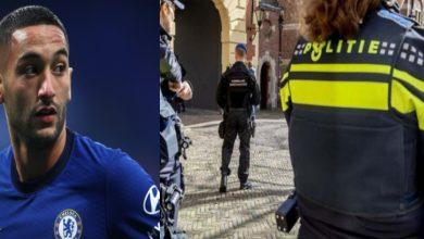 """صورة """"جريمة قتل"""" تدفع الشرطة الهولندية لأخذ شهادة حكيم زياش"""