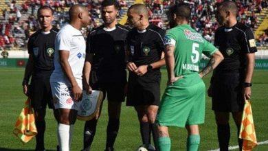 """صورة جدل حول حكم مباراة """"الديربي البيضاوي"""""""