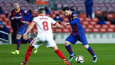 صورة ملخص مباراة برشلونة وإشبيلية في كأس ملك إسبانيا
