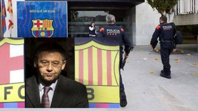 """صورة الشرطة """"الكتالونية"""" تُداهم مقر برشلونة وتلقي القبض على بارتوميو"""