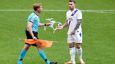 """صورة طائرة """"الدرون"""" تسقط وتوقف مباراة في الدوري الإسباني"""