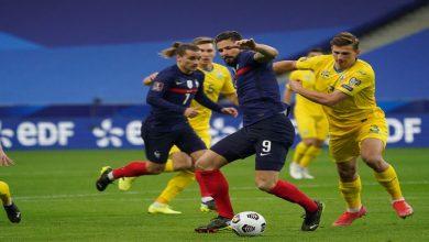 """صورة المنتخب الفرنسي يسقط على أرضه بتعادله مع نظيره الأوكراني في تصفيات """"المونديال""""- فيدو"""