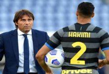 صورة كونتي يكشف عن سبب ردة فعله تجاه حكيمي في مباراة بارما -صورة