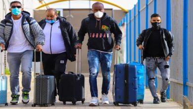 صورة اللافي والورفلي يغادران معسكر المنتخب الليبي