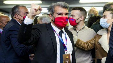 صورة أول تعليق للابورتا بعد انتخابه رئيسا جديدا لبرشلونة