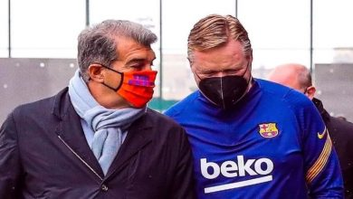 """صورة """"لابورتا"""" يجتمع بـ""""كومان"""" لدارسة مستقبل الأخير مع برشلونة"""