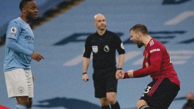 """صورة ملخص مباراة """"الديربي"""" بين مانشستر سيتي ومانشستر يونايتد"""