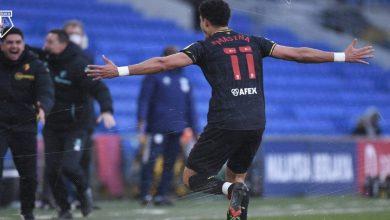 """صورة نجم المنتخب المغربي الجديد يسجل هدفا """"رائعا"""" ركلة حرة ويقود فريقه للانتصار- فيديو"""
