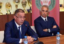 صورة لقجع يكشف عن الهدف المقبل لخاليلوزيتش رفقة المنتخب المغربي