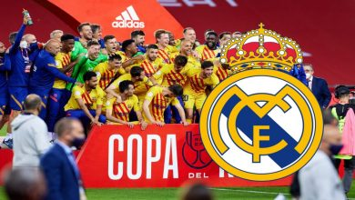 صورة ريال مدريد يهنئ برشلونة على تتويجه بكأس إسبانيا 2021