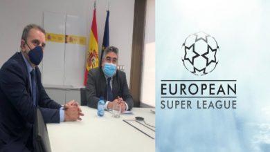 """صورة الحكومة الإسبانية تقف أمام أندية """"الليغا"""" المؤسسة لدوري """"السوبر الأوروبي"""""""