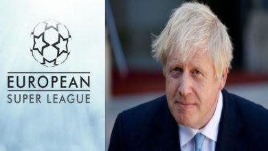 """صورة رئيس وزراء بريطانيا يؤكد عمله على منع الأندية الانجليزية من المشاركة في الـ""""سوبر ليغ"""""""