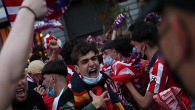 صورة تسجيل حالة وفاة في احتفالات جماهير أتلتيكو مدريد بلقب الدوري الإسباني