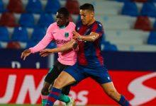 """صورة برشلونة يتعادل مع ليفانتي وتتراجع حظوظه في المنافسة على لقب """"الليغا""""- فيديو"""