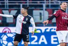 صورة اصطدام قوي بين رونالدو وإبراهيموفتيش على مقعد في دوري الأبطال
