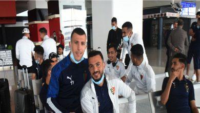 صورة وصول بعثة مولودية الجزائر لمطار محمد الخامس وممثلو الوداد في الاستقبال- فيديو