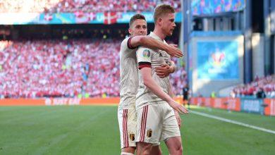 صورة في مباراة غنية بالمشاهد الإنسانية تجاه إيركسين.. بلجيكا تنتصر على الدنمارك بثنائية- فيديو