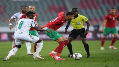 صورة المنتخب المغربي ينتصر على غانا بهدف الياميق- فيديو