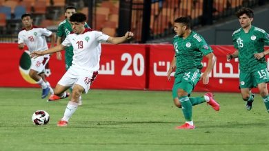 صورة المغرب يتقدم على الجزائر بهدف نظيف في ربع نهائي كأس العرب للشباب -فيديو