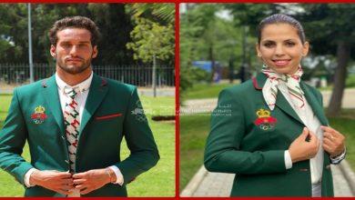 صورة أولمبياد طوكيو ..البطلان بلحبيب و بوخيام ينالان شرف حمل العلم الوطني المغربي