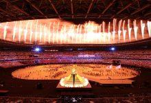 """صورة افتتاح أولمبياد طوكيو.. اليابان تبهر العالم بطائرات """"الدرون"""""""