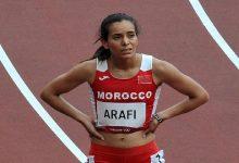 صورة عرافي تغادر أولمبياد طوكيو متأثرة بإصابتها في سباق 800 م