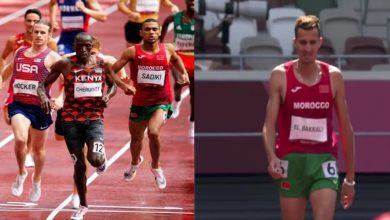 صورة انسحاب البقالي من سباق 1500 متر وتأهل الصديقي لنصف النهائي